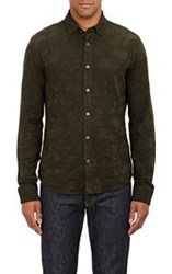 Ralph Lauren Black Label Camouflage Jacquard Shirt Green