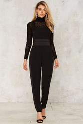 Nasty Gal Roosevelt Pleated Jumpsuit Black
