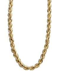 Macy's 14K Gold Necklace 30' Hollow Rope Chain