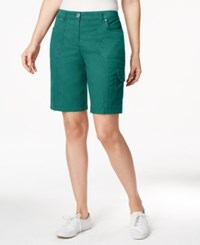 Karen Scott Solid Cargo Shorts Only At Macy's New Pool Green