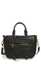 She Lo 'Mini Rise Above' Leather Satchel Black Perforated