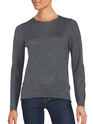Zadig And Voltaire Jewelneck Wool Sweater Anthracite