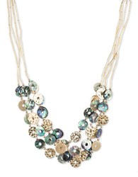 Lonna And Lilly Shell Abalone Goldplated Necklace Blue
