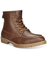 Nautica Madryn Moc Toe Boots Men's Shoes Brown