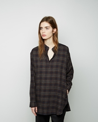 La Garconne Moderne Riding Shirt Army Plaid