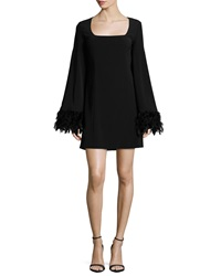 Nanette Lepore Cape Dress W Feather Cuffs