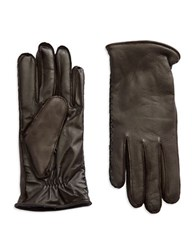 Ugg Wool Lined Leather Gloves Brown