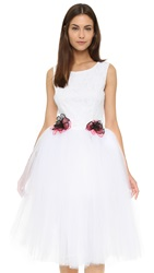 Loyd Ford Tulle Dress White