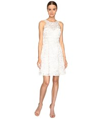 Marchesa Textured And Beaded Cocktail Dress Ivory