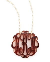 Medium Acrylic Script Monogram Pendant Necklace Moon And Lola Ebony