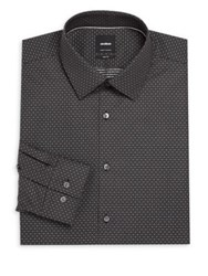 Strellson Printed Button Down Shirt Black