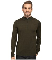 Smartwool Kiva Ridge Half Zip Loden Heather Men's Long Sleeve Pullover Green