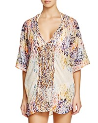 Gypsy05 Sand Gypsy 05 Printed Gauze Macrame Tunic Swim Cover Up Benray Kaleidoscope