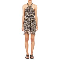 Isabel Marant Ikat Print Tevy Halter Dress Yellow