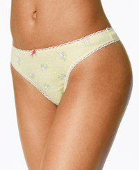 Charter Club Pretty Cotton Thong Only At Macy's Yellow Birds