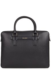 Dolce And Gabbana Black Leather Briefcase