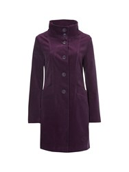 White Stuff Mossy Thatch Velvet Coat Purple