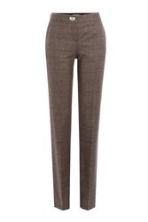 Salvatore Ferragamo Wool Blend Pants Brown