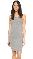 Enza Costa Rib Sheath Tank Dress Heather Grey