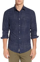 Original Penguin Men's Trim Fit Slub Oxford Plaid Woven Shirt