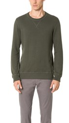 Club Monaco Coverlock Crew Sweater Surplus Green