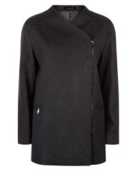 Jaeger Wool Zip Detail Coat Grey