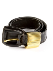 Gianfranco Ferre Vintage Crocodile Effect Belt Black