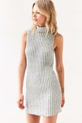 Bdg Marly Turtleneck Sweater Mini Dress Grey