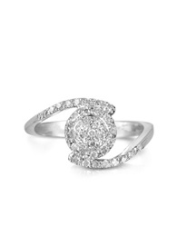 Forzieri 035 Ctw Diamond Pave 18K White Gold Ring