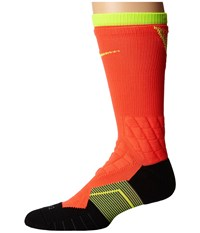 Nike 2.0 Elite Vapor Crew Fade Football Bright Crimson Volt Volt Crew Cut Socks Shoes Orange