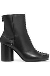 Maison Martin Margiela Studded Leather Ankle Boots Black