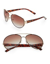 Sam Edelman 64Mm Round Sunglasses Brown