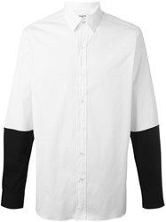 Ports 1961 Contrast Longsleeved Shirt White
