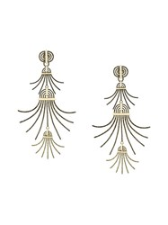 Lanvin Spiral Spread Drop Earrings Metallic