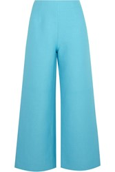 Isa Arfen Linen And Cotton Blend Wide Leg Pants Blue