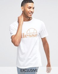 Ellesse T Shirt With Large Logo White