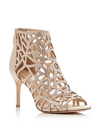 Imagine Vince Camuto Parker Embellished Caged Booties Gold