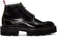 Carven Black Contrast Stitch Boots