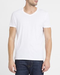 American Vintage White Decatur Jersey V Neck T Shirt