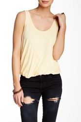 Free People Double Bubble Tank Yellow