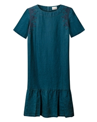 East Embroidered Tunic Dress Indigo