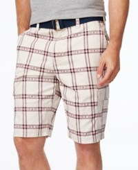 American Rag Men's Southwest Classic Fit Plaid Cargo Shorts Only At Macy's Stone Block