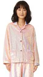Ashish Sequin Pajama Top Divine Peach