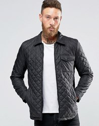 Only And Sons Quilted Zip Up Jacket Black