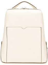 Valextra V Cut Pocket Backpack White