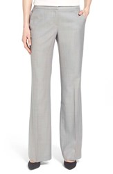 Women's Classiques Entier Superfine Wool Flare Leg Suit Pants Grey Light Superfine Wool