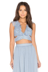 The Jetset Diaries X Revolve Prima Crop Top Blue