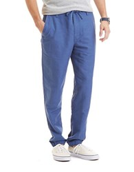 Nautica Slim Fit Linen Cotton Pants Blue