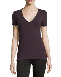 James Perse V Neck Jersey Tee Fig