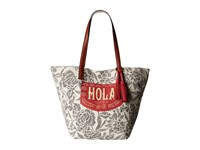 Lucky Brand Key West Tote Hola Tote Handbags Beige